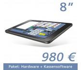 "Tablet Kasse  8""Touchscreen + Kassensoftware"