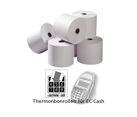 Thermobonrollen 57mm x 25m x 12mm   EC-Cash