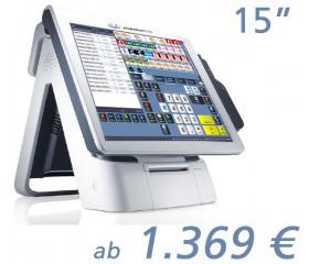 """mediaPOS Imprex 15""""-Touchscreen mit Bondrucker"""