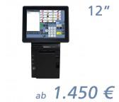 """mediaPOS HS-231 12""""-Touchscreen mit Bondrucker"""