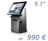 """mediaPOS HS-241 9,7""""-Touchscreen mit Bondrucker"""