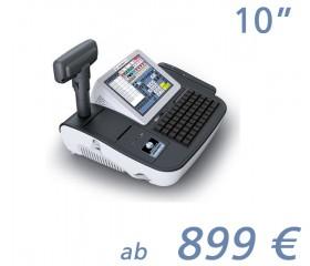 """mediaPOS mini-O2 10""""-Touchscreen mit Bondrucker"""