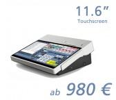 """mediaPOS mini 11,6""""-Touchscreen mit Bondrucker"""
