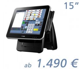 """mediaPOS Imprex Prime 15""""-Touchscreen mit Bondrucker"""